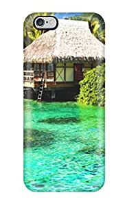 Brand New 6 Plus Defender Case For Iphone (beach Scene Desktop Green Nature Beach)