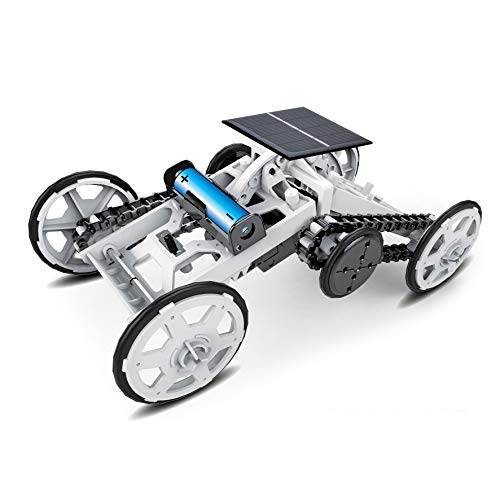 Solar Car Toy - STEM 4WD car DIY Climbing Vehicle Motor car Educational Solar Powered car Engineering car for Kids,Assembly Gift Toy Circuit Building Projects Science Experiment,Building Toys