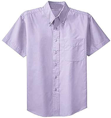Joe's USA Men's Short Sleeve Wrinkle Resistant Easy Care Shirts in 32 Colors. Sizes XS-6XL