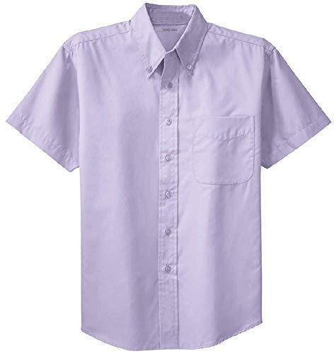 (Joe's USA - Men's Short Sleeve Wrinkle Resistant Easy Care Shirts-S Bright)
