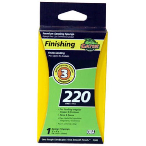 Gator Finishing 7302 220 Grit Aluminum Oxide Sanding Sponges (1 pack), 3