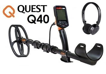 Detector de metales, para monedas, oro, modelo Quest Q40: Amazon.es: Deportes y aire libre
