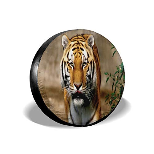 Spare Wheel Tire Cover Wild Animal Tiger Universal Waterproof/Windproof Spare Tire Tyre Cover Wheel Covers for Car/Trailer/RV/SUV/Truck/Boat/Motorhome 16 inch