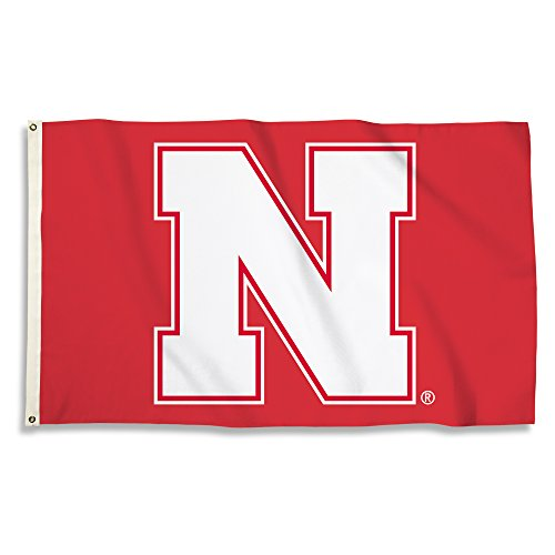 NCAA Nebraska Cornhuskers Unisex NCAA 3 X 5 Foot Flag with Grommets, Red, One Size - Ncaa Tailgate Flag