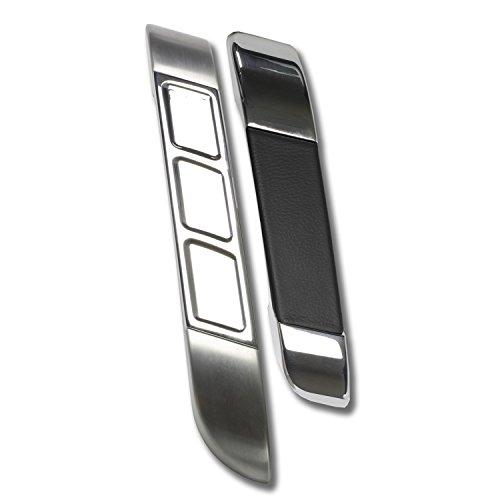 Billet Aluminum Door Handle Pulls - Lokar GSE-2154 Interior Door Pull, Goolsby Edition Billet Aluminum, XL Brushed Finish Edge Insert