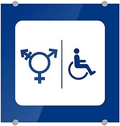 Back The Blue CGSignLab Square Premium Acrylic Sign 16x16