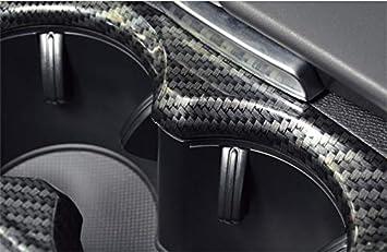 Yueng ABS Matt Car Inner Water Cup Holder Decorative Cover Trim 1-Pack