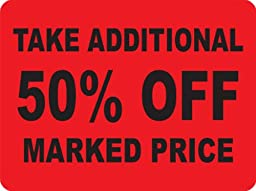 TAKE ADDITIONAL 50% OFF MARKED PRICE Labels. 5,000 Labels. PromoTouch Compatible