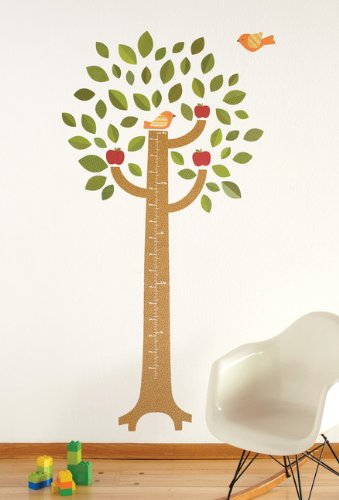 Amazon com petit collage fabric wall growth chart decal tree baby