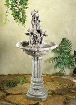 Playful Cherubim Cherub Angel Garden Water Fountain