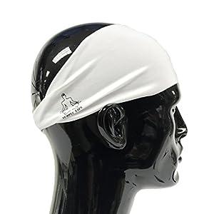 Temple Tape Headbands for Men and Women - Mens Sweatband & Sports Headband Moisture Wicking Workout Sweatbands for Running, Crossfit, Yoga and bike helmet friendly