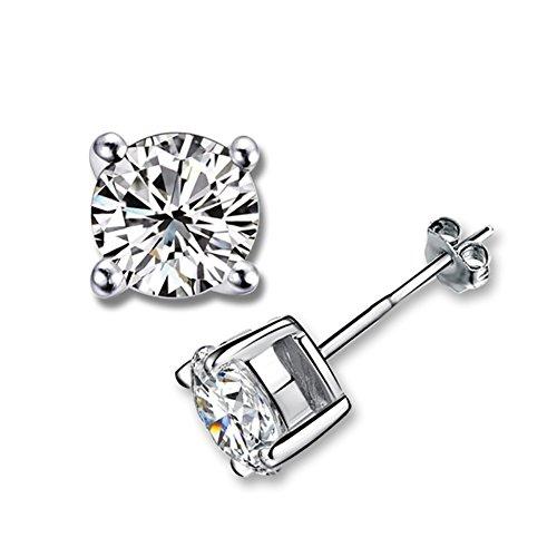 Platinum Zirconia earrings