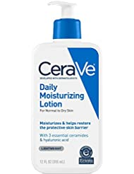 CeraVe Daily Moisturizing Lotion 12 oz with Hyaluronic Acid a...