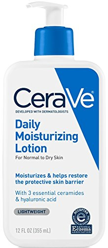 CeraVe Daily Moisturizing Lotion | 12 Ounce | Face & Body Lotion for Dry Skin with Hyaluronic Acid | Fragrance - Essential 12 Scented Oil Bottle