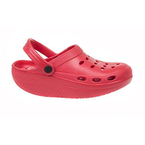 Para Rojo De Goma Zapatillas Nordic Mujer Mapleaf Walking 41qxA