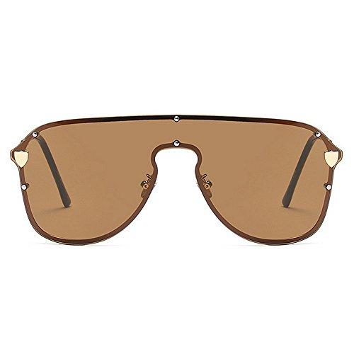 conjoined Beach gran de Peggy Gafas sin la de al libre Gu protección aire de vacaciones Summer de Gafas de lente UV mujeres las marco Marrón tamaño Cool de conducción sol Azul para sol Color vX8Axwvqr