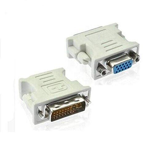 DVI VGA Cable Adapter DVI-I 24+5 Male to VGA HD15 Female Adapter with Silver Plated for Computer PC Host Laptop Graphics Card to HDTV LG HP Dell Monitor,Set of 2
