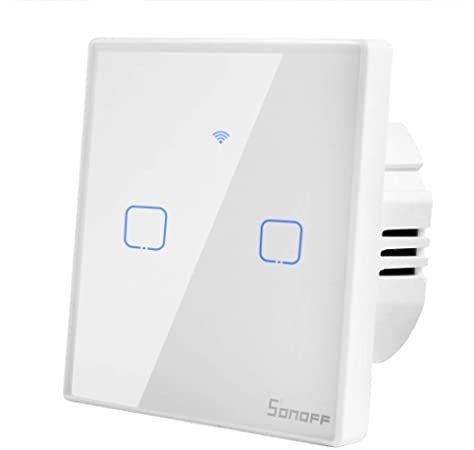 interruptor WiFi de dos v/ías Interruptor inteligente con WiFi interruptor DIY Home Wall WiFi funciona con Alexa Google Home IFTTT mini interruptor inteligente WiFi de SONOFF