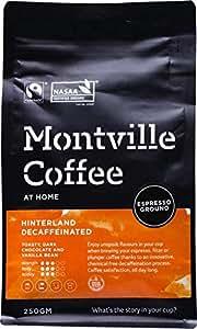 MONTVILLE COFFEE Hinterland Blend Espresso Ground Decaf Coffee, 250 g