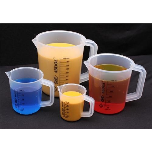 United Scientific P50808 Polypropylene Pitchers with Printed Graduations, 10000ml Capacity