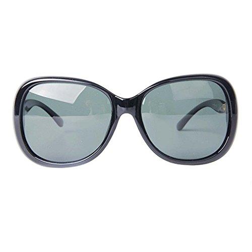 's Shades Oversized Polarized Goggles Sunglasses UV400 C1 (Translucent Resin Panels)