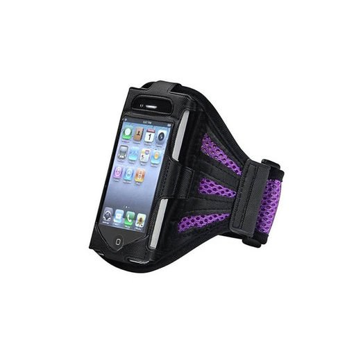 G4GADGET® Mesh Purple Running Armband Case Cover for Apple Iphone 4s/4