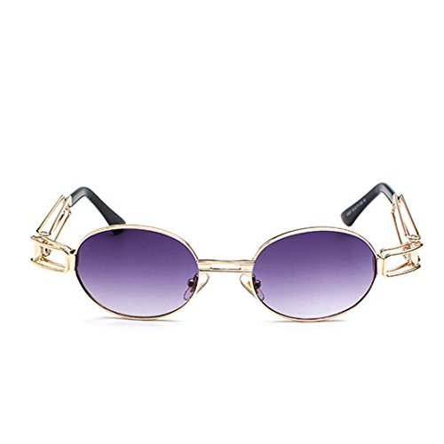redondas de metal Huicai señoras Lentes gafas transparente Gafas de hombres marco de Gafas lente los de de ovales sol de Púrpura wFavxwfqOZ