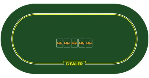 Holdem Poker Premium Rubber Table Layout with Dealer Position - Comes with Bonus 2 Decks of Cards! by Brybelly