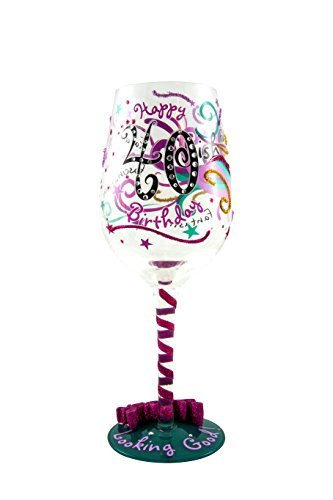 40-ish Birthday Wine Glass - Gift Ideas for Wine Enthusiasts -