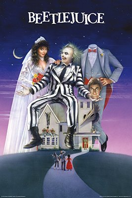 Frame USA Beetlejuice-Movie One Sheet Poster Rolled 24 x 36