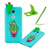 TPU Case for Redmi 5 Plus,Soft Rubber Cover for Redmi 5 Plus,Herzzer Ultra Slim Stylish 3D Cute Cactus Series Design Scratch Resistant Shock Absorbing Flexible Silicone Back Case