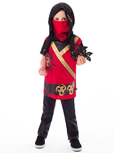 [Little Adventures Ninja Force Hooded Vest Costume & Accessory Sets for Boys - S/M (3-5 Yrs)] (Luke Skywalker Costume Return Of The Jedi)