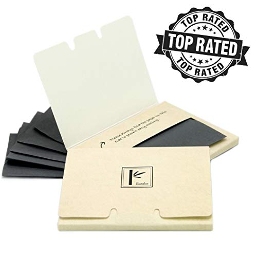 2 Pack of Pretie Asian Bamboo Charcoal Extra Thick Super Absorbent Facial Blotting Paper/Oil Absorbing Sheets (160 sheets in total). Pop-up Inter-folded sheets. from Pretie