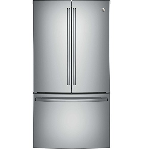 "GE GNE29GSKSS 36"" Freestanding French-door Refrigerator with"