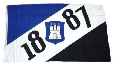Fahne / Flagge Hamburg 1887 Fan NEU 90 x 150 cm Flaggen