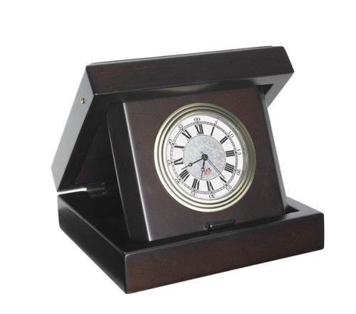 Executive Desktop Clock in Wood Box - Ship