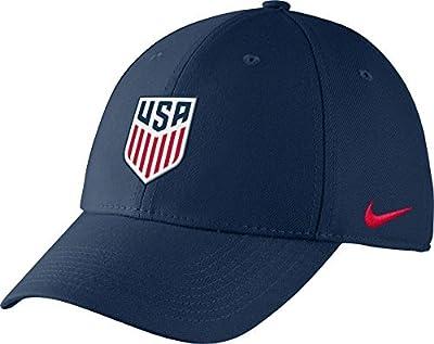 Nike Men's USA Soccer Crest Structured Navy Flex Hat (OneSizeFitsAll) from Nike