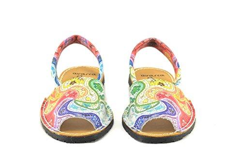 Multicolor Menorquinas de ConBuenPie Multicolor Mujer de Color piel 355 Avarca modelo by 44rqwv1