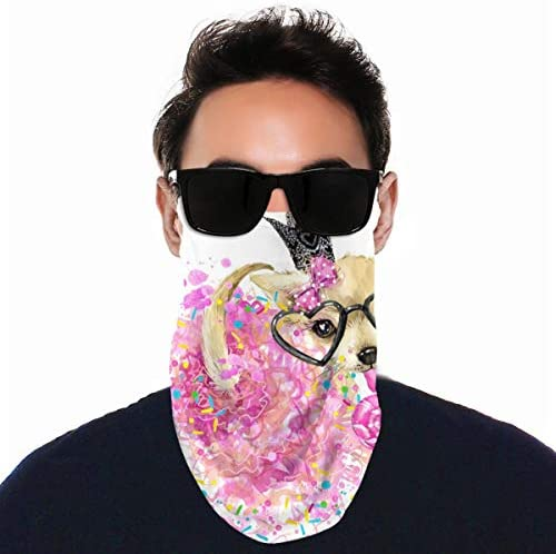 フェイスカバー Uvカット ネックガード 冷感 夏用 日焼け防止 飛沫防止 耳かけタイプ レディース メンズ Lovely Dog