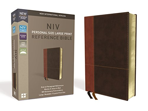 NIV, Personal Size Reference Bible, Large Print, Leathersoft, Tan/Brown, Red Letter Edition, Comfort Print (List Of Women In The New Testament)