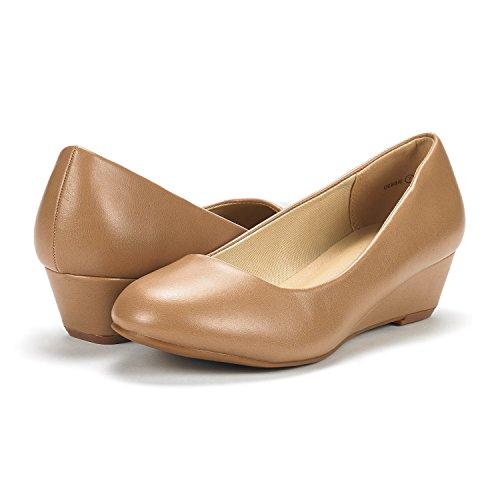 Pump Wedge PAIRS Pu Heel Nude Debbie Women's DREAM Mid Shoes Yawxaq