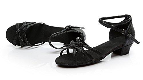 Latin Shoes Shoes with Soft EU39 Children's Dance Dance Latin Girl Child Shoes ShangYi Girl 3 Shoes Dance Kids 5cm Black Height UK6 Big wxz6qIYO