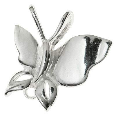 (FidgetKute 1x Sterling Silver Bail Clasp Butterfly Pendant Ring Connector 925 Sterling Silver / 1 Piece)