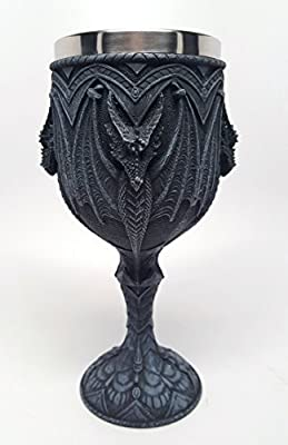 6.75 Inch Medieval Dragon Wine Drinking Goblet Cup Mug Vessel