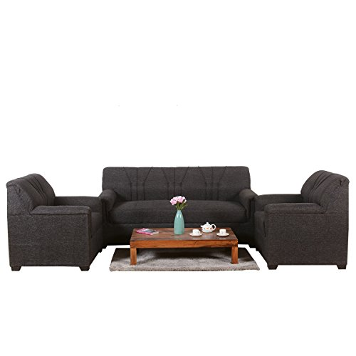 Roman Living Fabric Lesto 5 Seater Sofa Pack  Black