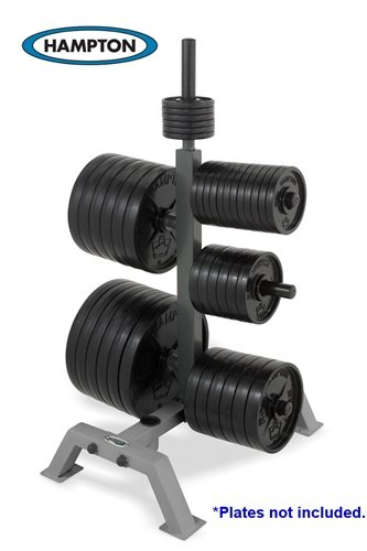 International Plate Rack with 2 International Bar Holders by Hampton Fitness