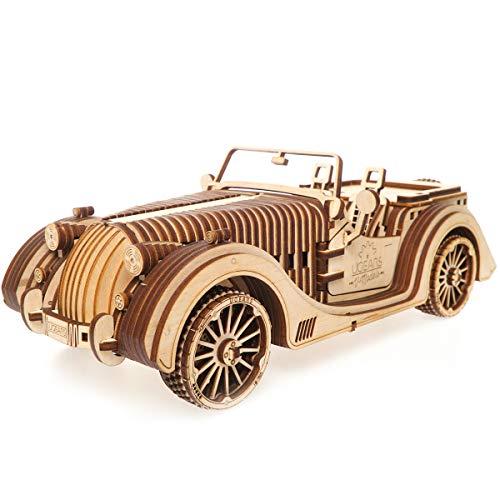 S.T.E.A.M. Line Toys UGears Mechanical Models 3-D Wooden Puzzle - Mechanical Roadster VM-01 ()