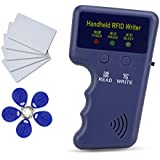 HFeng NEW 125Khz Handheld RFID Copier Card Reader Writer Duplicator Programmer + 10pcs EM4305/T5577 key card token tags