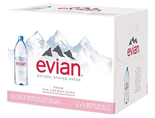 evian bgtr Natural Spring Water (One Case of 12 Individual Bottles, Each Bottle is 1 Liter) Naturally Filtered Spring Water in Large Bottles 4 Cases (48 Count) by evian (Image #3)