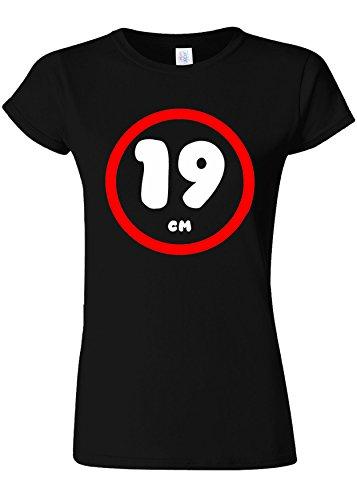静めるシガレット美しい19 cm Funny Novelty Black Women T Shirt Top-M